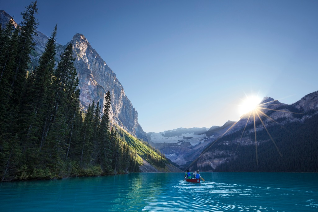 Lac des Rocheuses, en Alberta