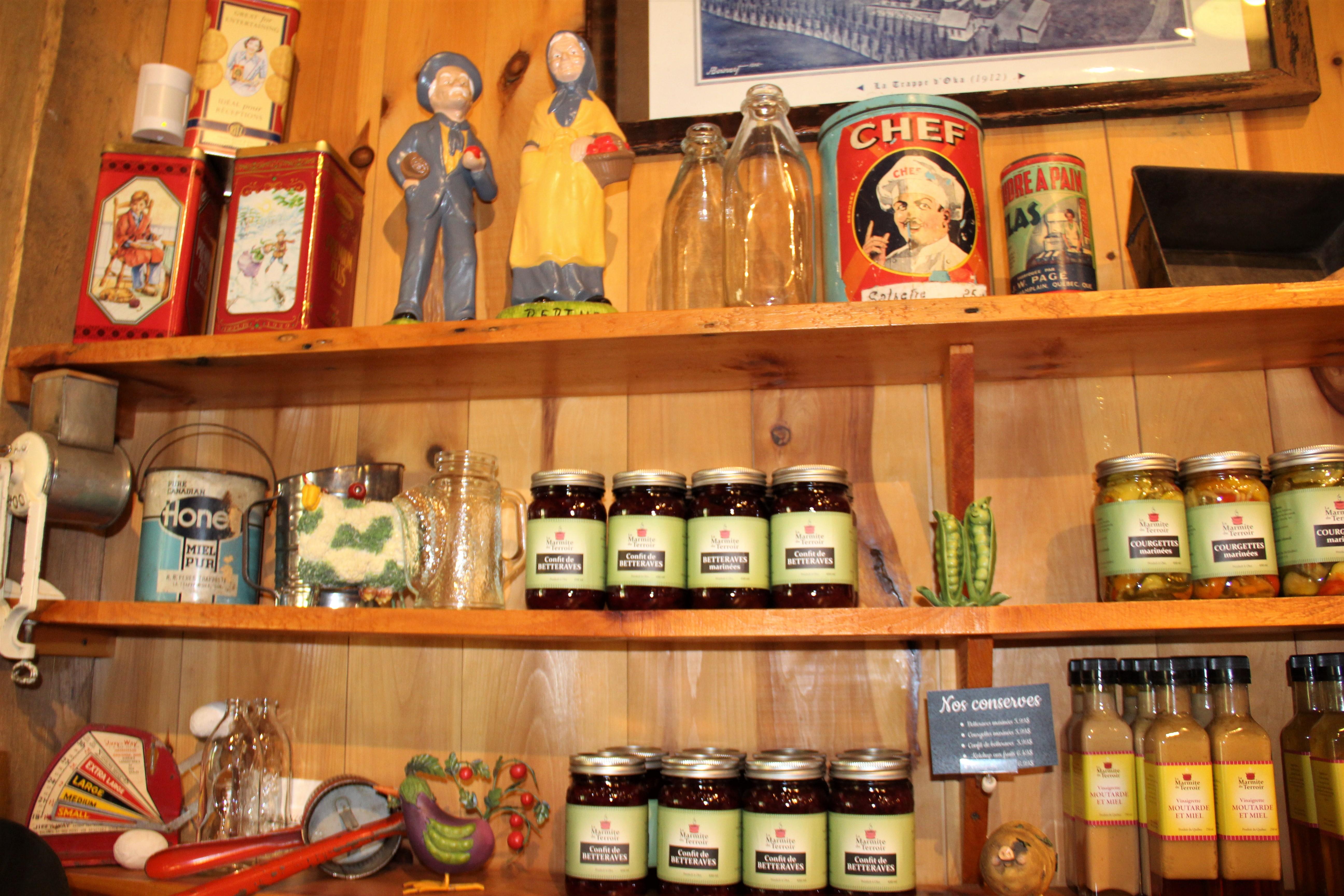 Les produits du kiosque maraîcher La Marmite du Terroir