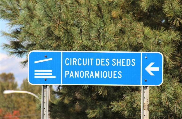 Circuit des sheds panoramiques, dans les Cantons-de-l'Est