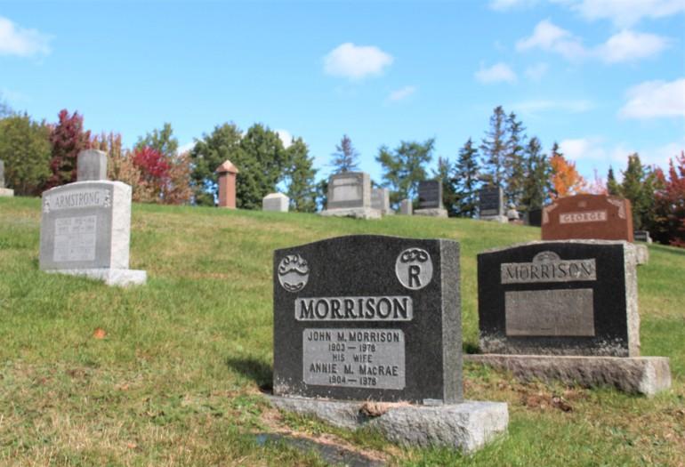 le cimetière de Lingwick, dans le Haut-Saint-François