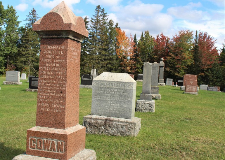 Le cimetière de Lingwick, dans le Haut Saint-François